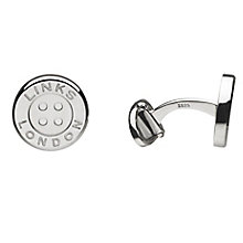 Links of London Men's Sterling Silver Button T-Bar Cufflinks - Product number 3889394