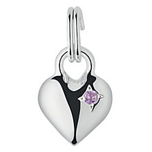 Links of London Sterling Silver Amethyst Mini Heart Charm - Product number 3889599