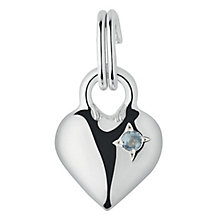 Links of London Sterling Silver Aquamarine Mini Heart Charm - Product number 3889637
