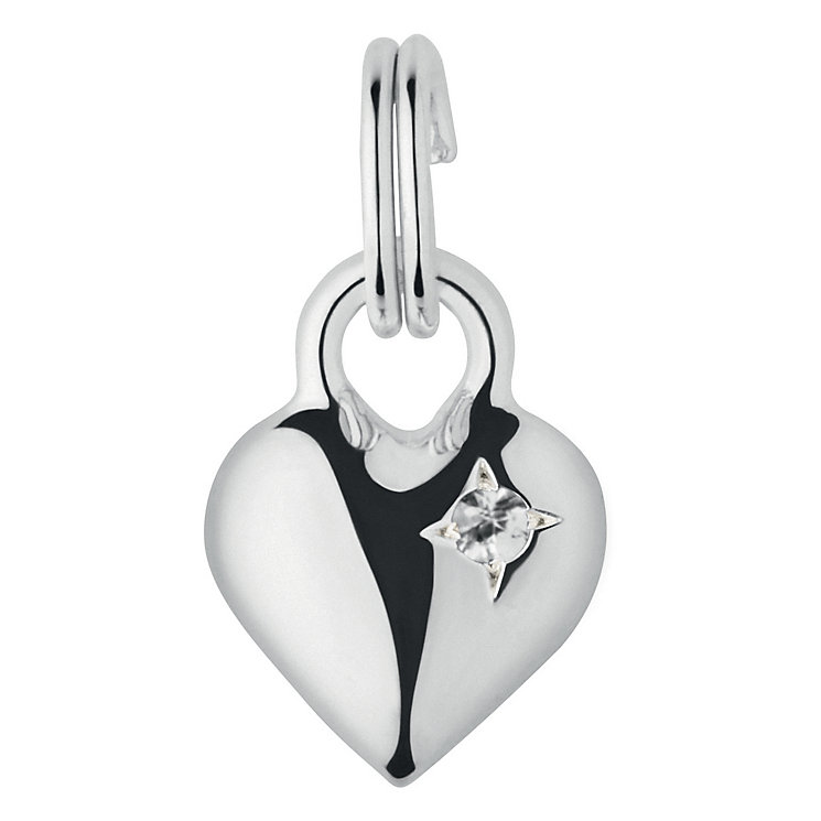Links of London Sterling White Sapphire Mini Heart Charm - Product number 3889661