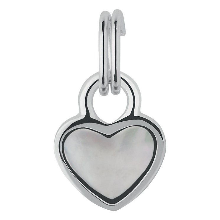 Links of London Silver & Mother of Pearl Mini Heart Charm - Product number 3889734