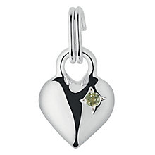 Links of London Sterling Silver Peridot Mini Heart Charm - Product number 3889769