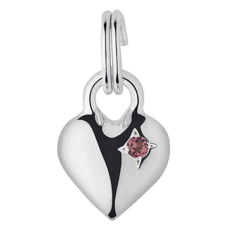 Links of London Sterling Silver Tourmaline Mini Heart Charm - Product number 3889785