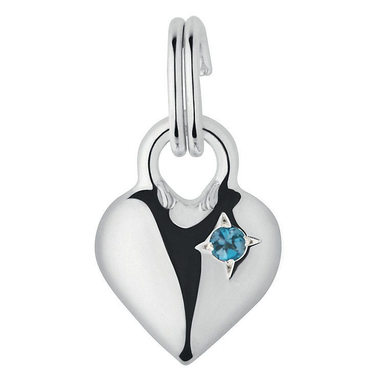 Links of London Sterling Silver Topaz Mini Heart Charm - Product number 3889807