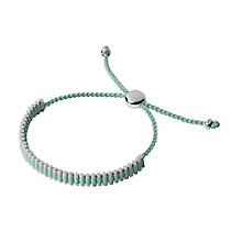 Links of London Silver Green Mini Friendship Bracelet - Product number 3890589