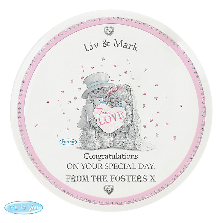 Personalised Me To You Wedding Couple Plate - Product number 3891046