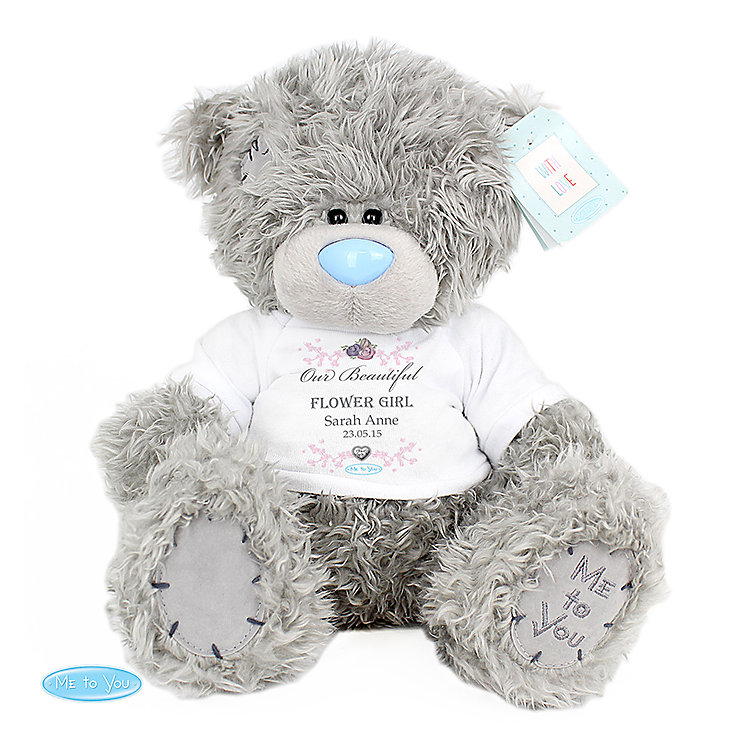 Personalised Me To You Flower Girl Teddy with T-Shirt - Product number 3891097