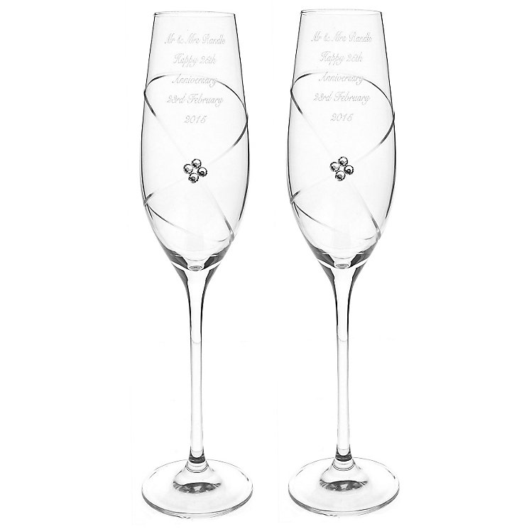 Engraved Infinity Flutes with Clear Swarovski Elements - Product number 3891127
