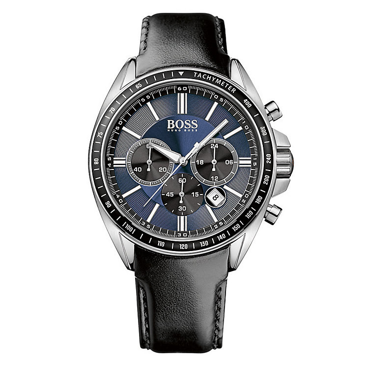 Hugo Boss Men's Stainless Steel Blue Dial Strap Watch - Product number 3891240