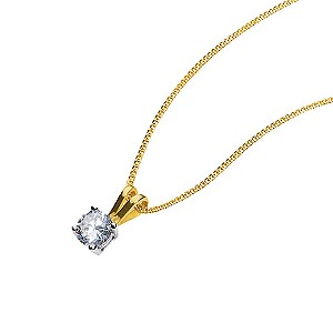 18ct two colour gold third carat diamond pendant - Product number 3892182