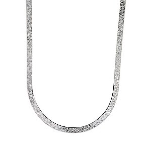 9ct White Gold Herringbone Necklace