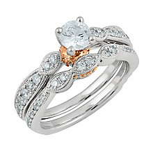 Angel Sanchez 18ct white rose gold 1.00ct diamond bridal set - Product number 3896129