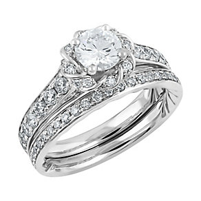 Angel Sanchez 18ct white gold 1.50ct diamond bridal set - Product number 3896714