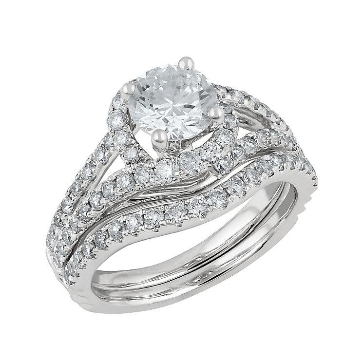 Angel Sanchez 18ct white gold 2.00ct diamond bridal set - Product number 3899020