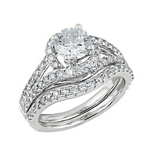 Angel Sanchez 18ct white gold 2.00ct diamond bridal set - Product number 3899020