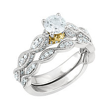 Angel Sanchez 18ct white & gold 1.25ct diamond bridal set - Product number 3899365