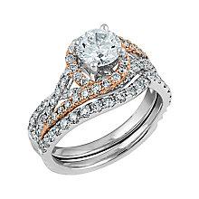 Angel Sanchez 18ct white rose gold 1.75ct diamond bridal set - Product number 3899551