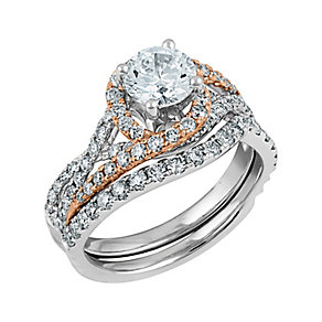 Angel Sanchez 18ct white rose gold 1.75ct diamond bridal set - Product number 3899551