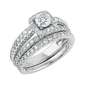 Angel Sanchez 18ct white gold 1.75ct diamond bridal set - Product number 3899985