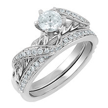 Angel Sanchez 18ct white gold 0.75ct diamond bridal set - Product number 3901068
