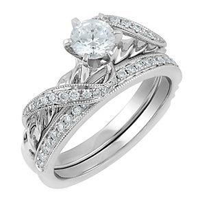 Angel Sanchez 18ct white gold 0.75ct diamond bridal set - Product number 3901068