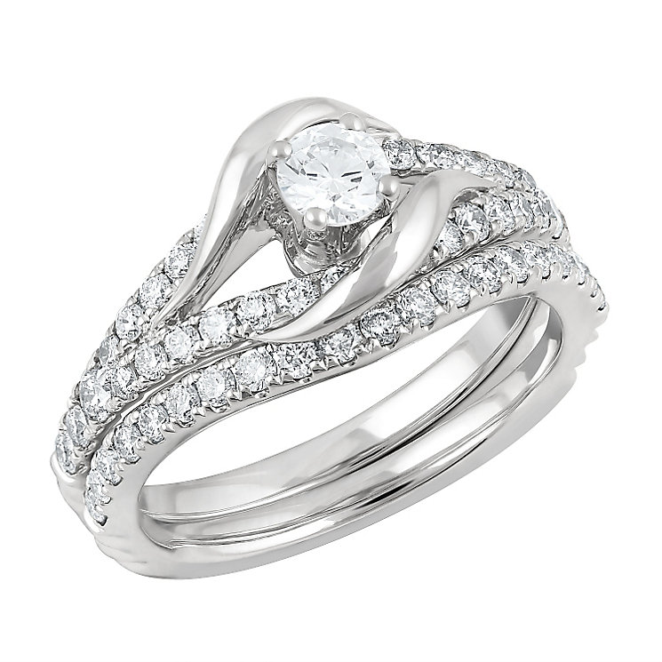 Angel Sanchez 18ct white gold 1.00ct diamond bridal set - Product number 3901262