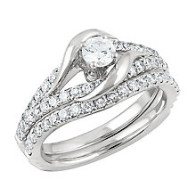 Angel Sanchez 18ct white gold 1.00ct diamond bridal set - Product number 3901262