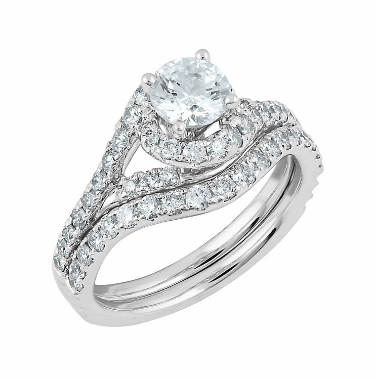 Angel Sanchez 18ct white gold 1.50ct diamond bridal set - Product number 3901505