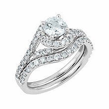 Angel Sanchez 18ct white gold 1.50ct diamond bridal set - Product number 3901505