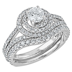 Angel Sanchez 18ct white gold 1.75ct diamond bridal set - Product number 3901637