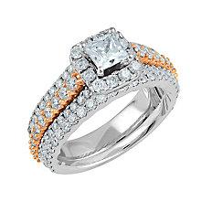 Angel Sanchez 18ct white & rose gold 2ct diamond bridal set - Product number 3901777