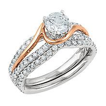 Angel Sanchez 18ct white rose gold 1.50ct diamond bridal set - Product number 3901904