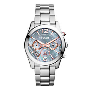 Fossil Ladies' Grey Dial Stainless Steel Bracelet Watch - Product number 3903680