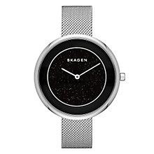 Skagen Ladies' Black Dial Stainless Steel Bracelet Watch - Product number 3903737