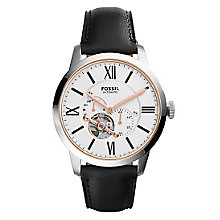 Fossil Townsman Men's Two Colour Strap Watch - Product number 3904334