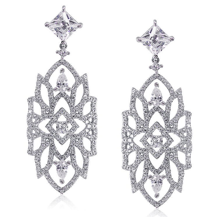 CARAT* Willa Silver Geometric Drop Earrings - Product number 3904938