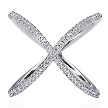 CARAT* Silver 'X' Micro Set Ring Size N - Product number 3905012