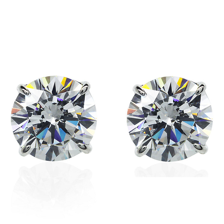 CARAT* 9ct White Gold Brilliant 4 Prongs Stud Earrings - Product number 3905128