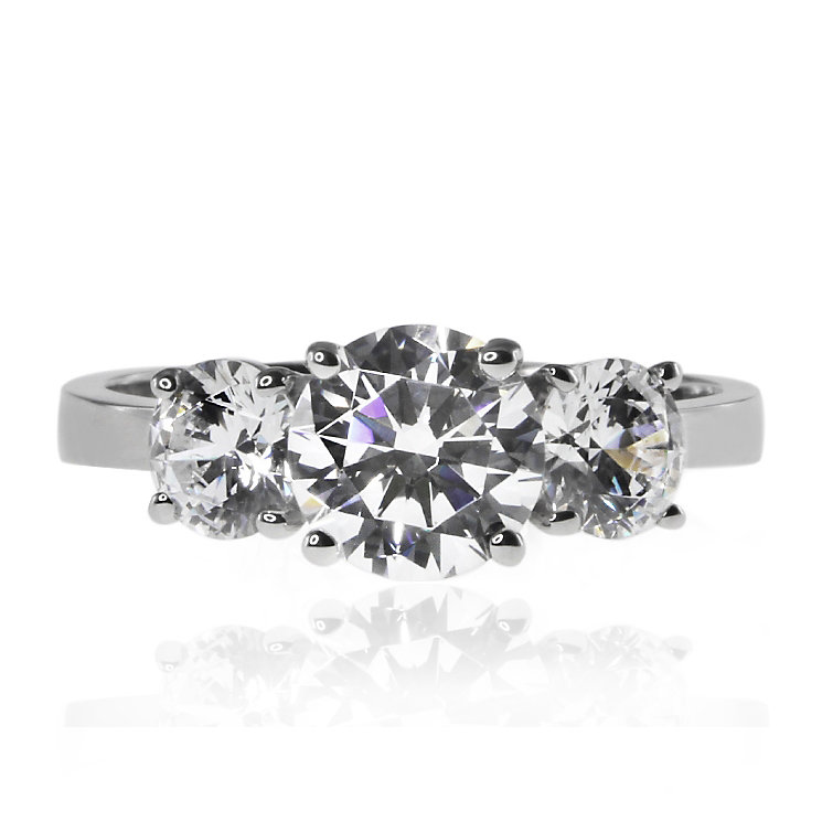 CARAT* 9ct White Gold Brilliants Trilogy Ring Size K - Product number 3905152