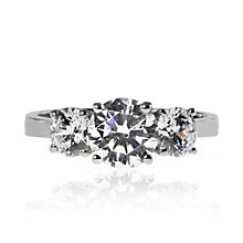 CARAT* 9ct White Gold Brilliants Trilogy Ring Size O - Product number 3905187