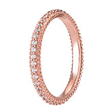 Chamilia Rose Gold Swarovski Zirconia Eternity Ring Medium - Product number 3905330
