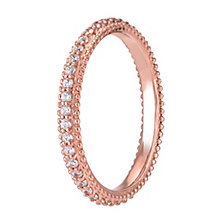 Chamilia Rose Gold Swarovski Zirconia Eternity Ring Large - Product number 3905349