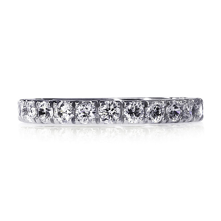 CARAT* 9ct White Gold Eternity Ring Size O - Product number 3905357