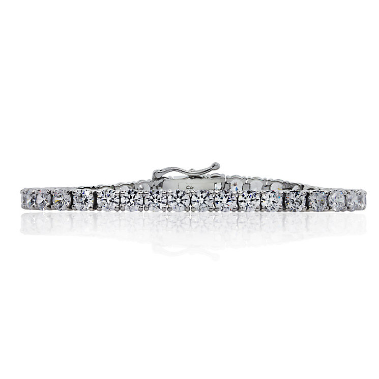 CARAT* Sterling Silver Brilliant Round Tennis Bracelet - Product number 3905667
