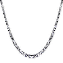 CARAT* Sterling Silver Brilliant Round Tennis Necklace - Product number 3905675