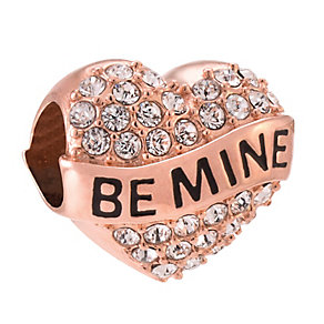Chamilia Sterling Silver Rose Gold-Plated Be Mine Heart Bead - Product number 3905683