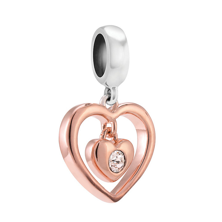 Chamilia Silver & Rose Gold-Plated Radiant Heart Charm Bead - Product number 3905705