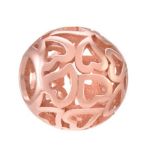 Chamilia Silver Rose Gold-Plated Captured Hearts Bead - Product number 3905713