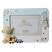 "Button Corner 1st Birthday Photo Frame Blue 6X4"" - Product number 3906604"