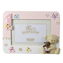 "Button Corner 1st Birthday Photo Frame Pink 6X4"" - Product number 3906612"